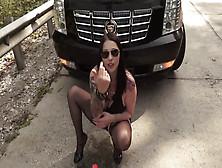 Bella Slut Anal Fisting In Street Behind A Car
