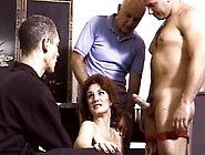 Vintage Mature Brunette Getting Gangbanged At Home