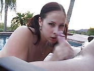 Girl With Big Tits Gets Titty Fucked Outdoors Video
