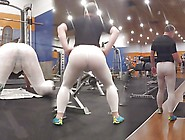 Showing Off At The Gym In Sweaty Spandex