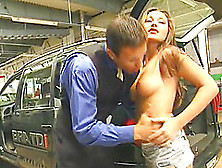 Lovely Blonde Takes Cum In Mouth After A Car Fucking Scene