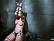 Tied Up Porn Actress With Big Boobs Gets Her Pussy Punished