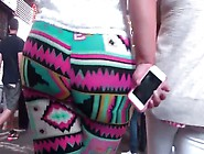Big Ass Booty Bbw Latina In Colorful Leggings 720P
