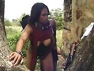 Ethnic Black Couple Amateur Hot Fucking Under The Tree
