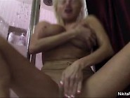 Nikita Shaves Her Pussy In The Shower