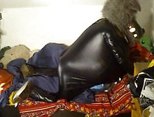 Fat Rubber Wolf Pumps His Load Inside A Decoy (+ Close-Up)