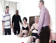 Older Plumpers With Big Tits & Curves Share Three Cocks In Orgy
