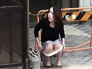 Hot Japanese Pisser Pees Outdoors