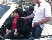 German Milf With Short,  Black Hair Is Getting Banged On A Parkin