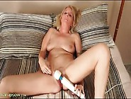 Vibrator On Her Mature Clit Makes Her Moan