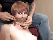 Darby Tied Naked With Pantyhose And Her Worn Panties Taped In!
