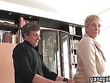 Ganzgeil. Com Blonde German Granny Fucks