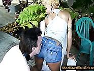 Slave Cleans His Mistress Ass