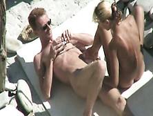 Posing Nude On The Seaside