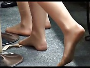 Candid Nylon Feet And Legs Of Sexy Hostesses