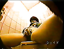 Hidden Cam Vid With A Japanese Milf Getting Naughty In A Toilet