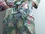 Cum In Purple Bra Wearing Wife's Silk Pyjamas