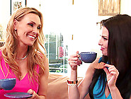 Tanya Tate And Veronica Avluv Join A Horny Lesbian For A Sex Gam