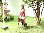 Small Girl Serves As A Ponygirl For Her Heavy Mistress