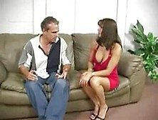 Mature Couple Spanking Hard Redhead Teen S Ass On Couch. F70