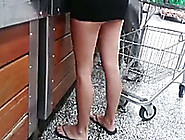 Sexy Babe In Dangerously Short Skirt Caught My Attention
