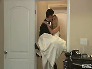 Beautiful Bride Scarlet Red Sucks Dick And Gets Fucked