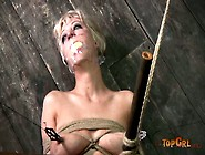 Rapacious Domina Teases Soaking Pussy Of Bandaged Cherry Torn