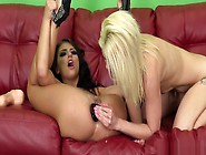 Adriana And Holly Toy Their Buttholes And Vibrate Their Clits