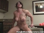 Brandi Is A Muscle Girl With Huge Clit