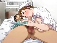 Anime Nurse Gets Hairy Cunt Slammed