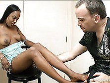 Ebony Mia White In A Foot Fetish Scene With Ass Licking And A Fo