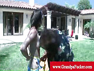 Grandpa Ron Jeremy Takes Model Pussy On A Water Slide