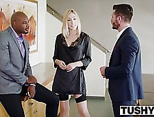 Sensual Blonde,  In Stockings Is Being Fucked In Her Tight Ass,  B