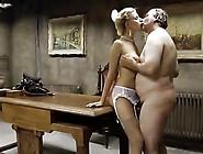Slim&busty Blonde Girl Fucks An Old Man
