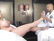 Martial Arts Teacher Has A Foot Fetish With Alura Jenson
