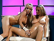 Sexy Lingerie Wearing Blonde Lesbians Have A Nice Time With Sex