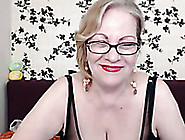 Busty And Mature Blonde Woman On Webcam Shows Her Privates