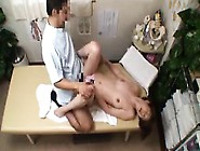 Horny Asian Wife Spreads Her Legs And Gets Fucked On The Ma
