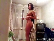 Big Ass Asian Dances Naked In Web Cam