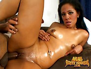 Slick Arab Pussy Fucked By A Fat Black Cock