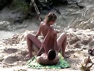 Hot Teen Girlfriend Filmed By A Voyeur Fucking On A Beach