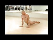 Naked Man Demonstrates Yoga Positions