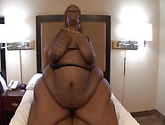Raunchy Ebony Bbw Enjoys Riding On A Big Black Dick