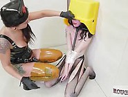 Strapon Fucking And Torture For Trash Can Head Slave