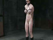Tattooed Slut With Tied Up Tits Is Punished In The Torture Room