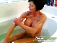 Horniest And Very Muscled Granny Bathing Ini The T