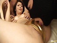 Maki Huojo Gets Drilled And Licked In A Hot Gang Bang Scene.
