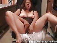 Busty Milf Plays With Electronic Dildo
