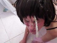 Brunette Whipped Hard And Peed On Her Face