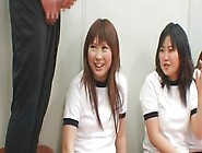 Japanese Schoolgirls Facials In School